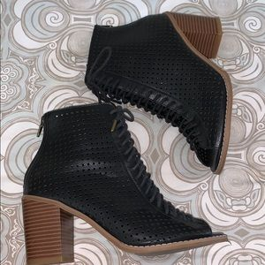 Open Toe Forever 21 Booties
